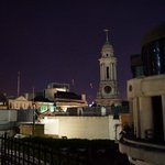 Night time on the Roof Terrace