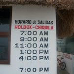 Holbox Ferry Schedule