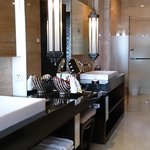the Bathroom... nice and big with 'Him' and 'Her' sinks