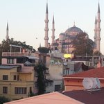 Blue mosque from hotel-roof terrace.