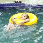 My baby girl having fun at the pool