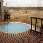 The waterhole from the deck