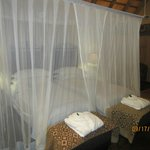 Bed with mosquito nets included