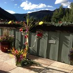 The terrace at Vail Racquet Club