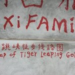 the wall at the Naxi Family GH