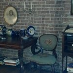 Antiques in dining room