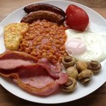 full English breakfast at Howard Lodge