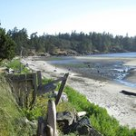 Beach in front of the Lodge at Weir's Beach, Vancouver Island, BC