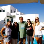 The girls with Panos on our departure day :(.