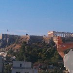 Acropolis from balcony of room (at 4 floor)
