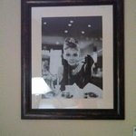 Audrey Hepburn photo in our room.