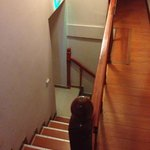 The very narrow staircase