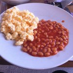 my scrambled eggs and baked beans