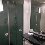 Brand new bath, toilet separated to separate room, very modern and sparkling clean!