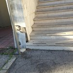 Steps at one entrance - no ramps