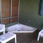 burre style rooms have sauna tubs on the balcony