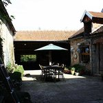 Wonderful sunny courtyard to relax, have a drink, maybe your meal too !