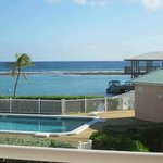 View of pool and ocean from 1 of the 2 balconies