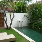 outdoor villa area with pool