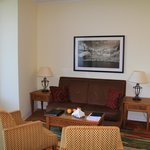 The sitting area in our junior suite