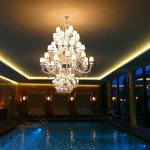 The Zion Spa swimming pool with fine chandeliers
