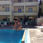 Pool tricks in Galatia apts, Crete