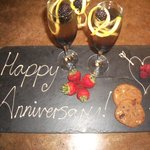 A lovely gesture from the staff on our anniversary