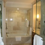 Very spacious bathroom, separate shower and wc