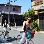 Just out front - bikes for rent - 500 yen/day