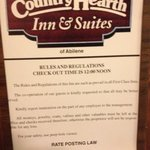 Country Hearth Inn & Suites Abilene resmi
