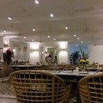 The resort's restaurant at night.. So white.. clean and neat with nice ambience from the marina.