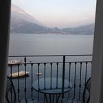 The view from our bed of Lago di Como.