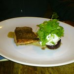 Trout, beetroot and goats cheese