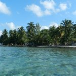 The caye's smallness brings visitors close to islanders.