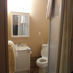 Bathroom - smallish, but has everything you need and VERY clean