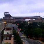 the view of UT stadium from our room