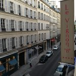 Rue Vignon from our 3rd Floor Room