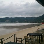 This is the beach, from restaurant