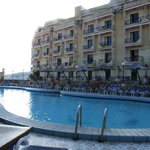 Outdoor pool and hotel