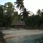 View of our bungalow from the beach