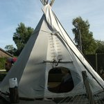 outside tipi