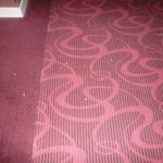 Hallway carpets which were never cleaned.