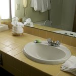 2 sinks in in the Fireplace Suite at Best Western Merry Manor, South Portland