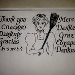 Multilingual thank you note