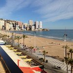 levante beach from balcony