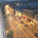 Downtown Lake Placid at night
