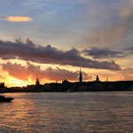 summer evening - view from Fotografiska toward the hostel