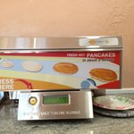 Pancake maker.. it was OK, but would rather have the waffle maker!!!