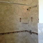 Nice granite and tile bathroom