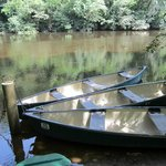 The free canoes available at Table Rock.